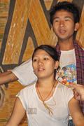 Dancer performing on hindi movie song at namdapha eco cultural festival, miao Stock Photos
