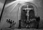 Stock Photo of shrine with crucifix. recoleta cemetery, buenos aires, argentina