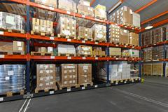 Distribution warehouse Stock Photos