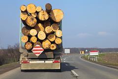 Log truck Stock Photos