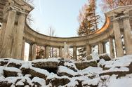 Stock Photo of apollo colonade in pavlovsky park on january 2014