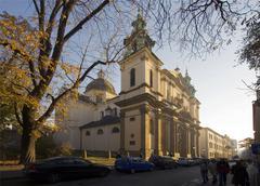 Poland krakow st ann's church Stock Photos