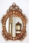 Stock Photo of oval mirror