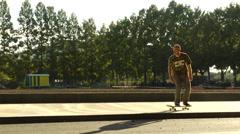 Skateboard trick - ollie Stock Footage