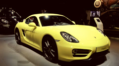 Porsche Cayman Stock Footage