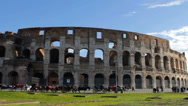 Stock Video Footage of Roman Coliseum Long Shot Pan