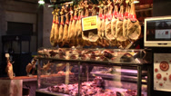 Stock Video Footage of Butcher shop in Barcelona