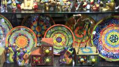 Decorative art of Barcelona Stock Footage