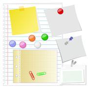 Paper set Stock Illustration
