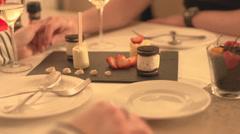 Romantic Dinner Stock Footage