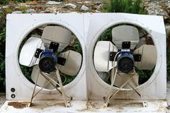 Double industrial fans Stock Photos