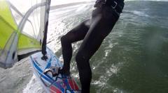 Windsurfing POV 4 Stock Footage
