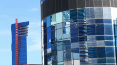 Las vegas city center buildings abstract 4 Stock Footage