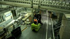 Aerial View of Factory HD Video Stock Footage