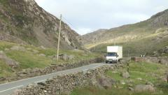 Truck Passing on Country Road HD Video Stock Footage