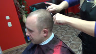 Stock Video Footage of man haircut comb