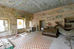 Stock Photo of derelict flat