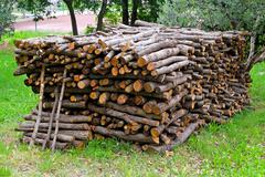 Firewood stack Stock Photos