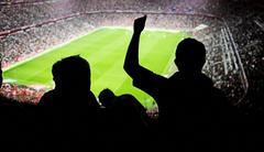 Jalkapallofaneja stadion Kuvituskuvat