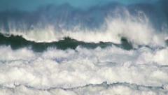 Ocean beautiful big wave sea spray Stock Footage