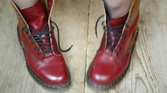 Red leather boots episode 2 Stock Footage