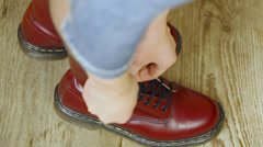 Red leather boots episode 4 Stock Footage