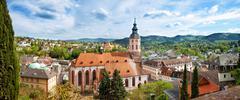 Panoramic view of baden-baden. europe, germany Stock Photos