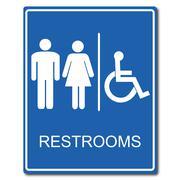 Restroom signs vector illustration - stock illustration