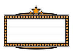 Blank cinema billboard vector design - stock illustration