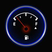 Stock Illustration of Gas gauge vector illustration