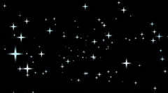 Stars in space Stock Footage