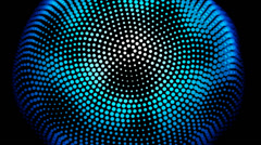 Blue distorted sphere 4K Background - stock footage