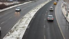 Car traffic with miniatures effect Stock Footage