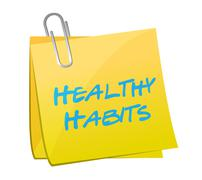 Stock Illustration of healthy habits post illustration design