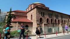 Temple of Hagia Sophia (Holy Wisdom) in Thessaloniki, Greece Stock Footage