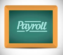 payroll message illustration design - stock illustration