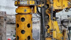 Drilling wells for bored piles Stock Footage