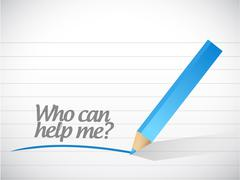 Who can help me message illustration design Stock Illustration