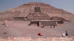 Ancient Maya civilization - pyramids in Mexico. Stock Footage