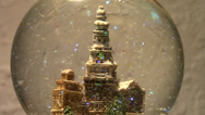 Stock Video Footage of Miniature church snow globe