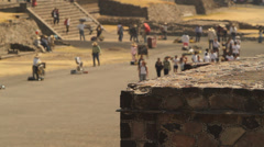 Avenue of the Dead in the Mayan city Teotihuacan Stock Footage