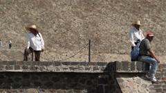 Souvenir trade on the pyramids Stock Footage