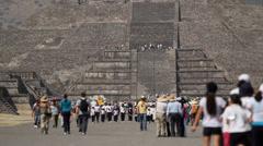 Mayan pyramids- new world wonders Stock Footage