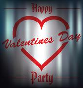 happy valentines day party - stock illustration