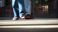 Footsteps, walking, shoping, shoes, summer, new york city Stock Footage