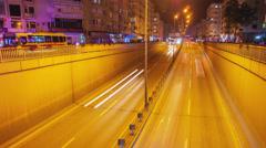 ANTALYA - APRIL 22 (TIMELAPSE): Night city traffic at Yener Ulusoy Blv on April Stock Footage