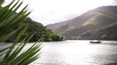 Douro river in Portugal - stock footage