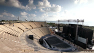Stock Video Footage of Caesarea amphitheatre stage side view timelapse