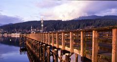 Dock in the bay - stock photo