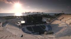 Caesarea amphitheatre stage sunset timelapse Stock Footage